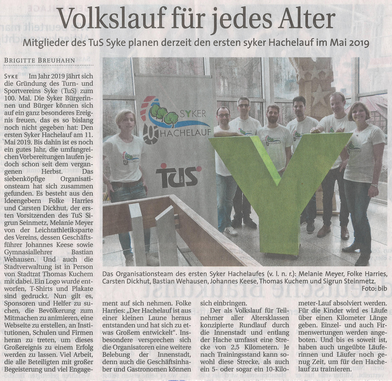 Artikel im Weser Report am 08.04.2018